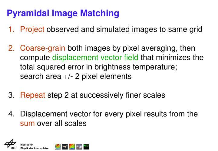 Pyramidal Image Matching