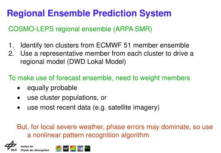 Regional ensemble prediction system