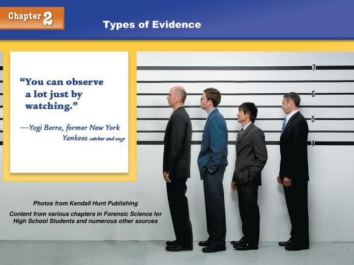 types of evidence n.