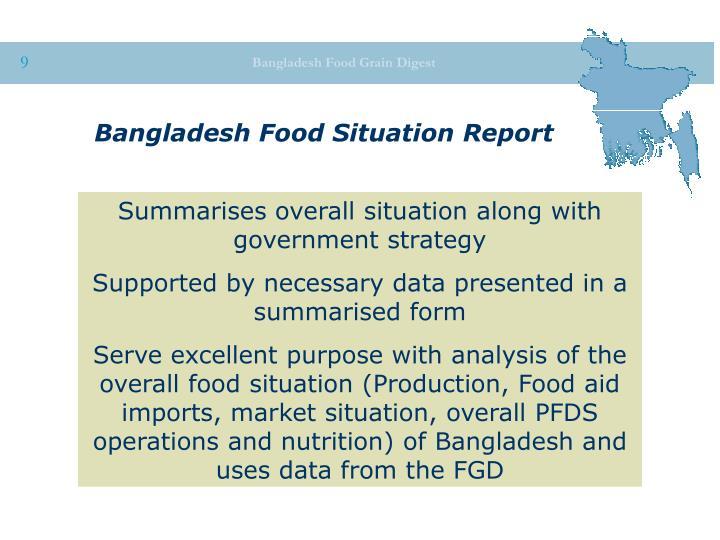 Bangladesh Food Situation Report