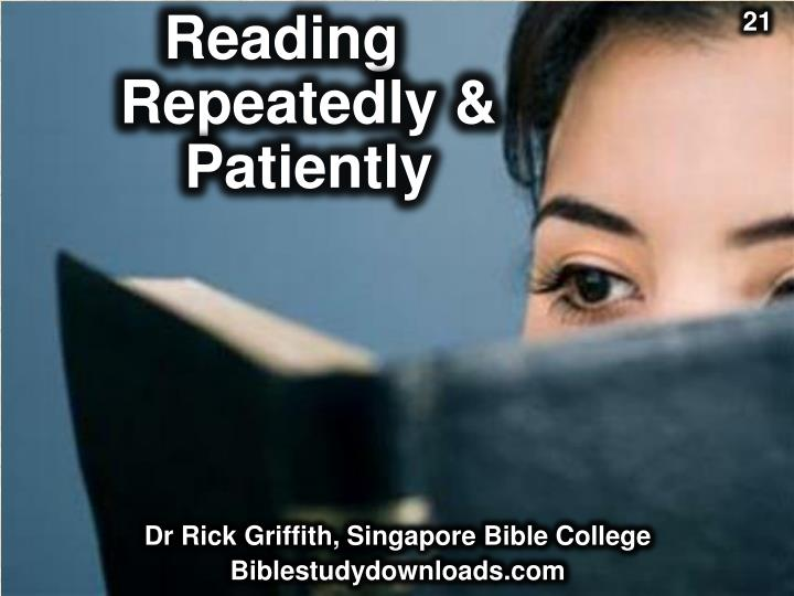 reading repeatedly patiently n.