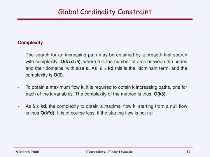 Global Cardinality Constraint
