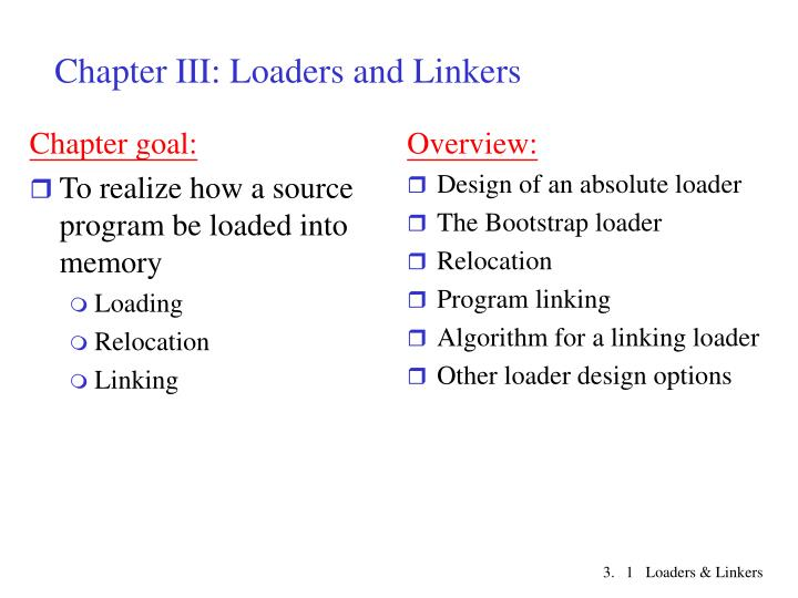 Ppt Chapter Iii Loaders And Linkers Powerpoint Presentation Free Download Id 6092416