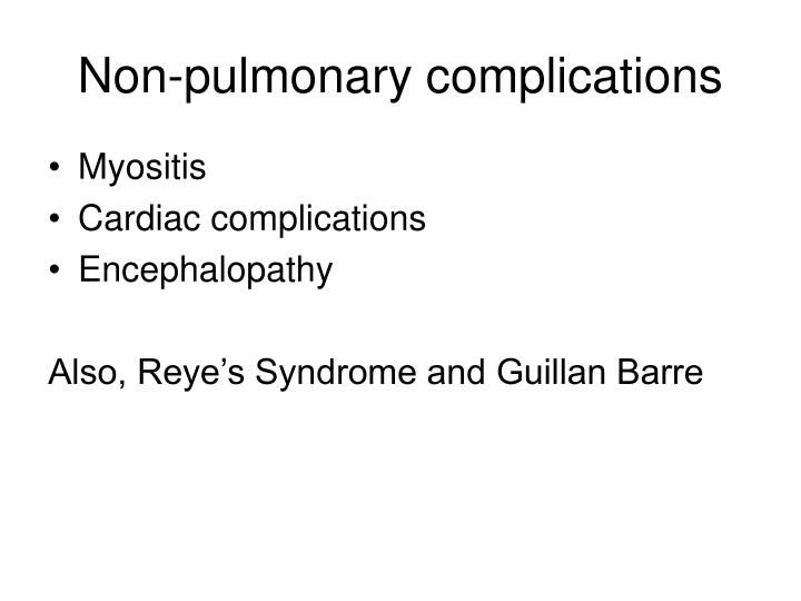 Non-pulmonary complications
