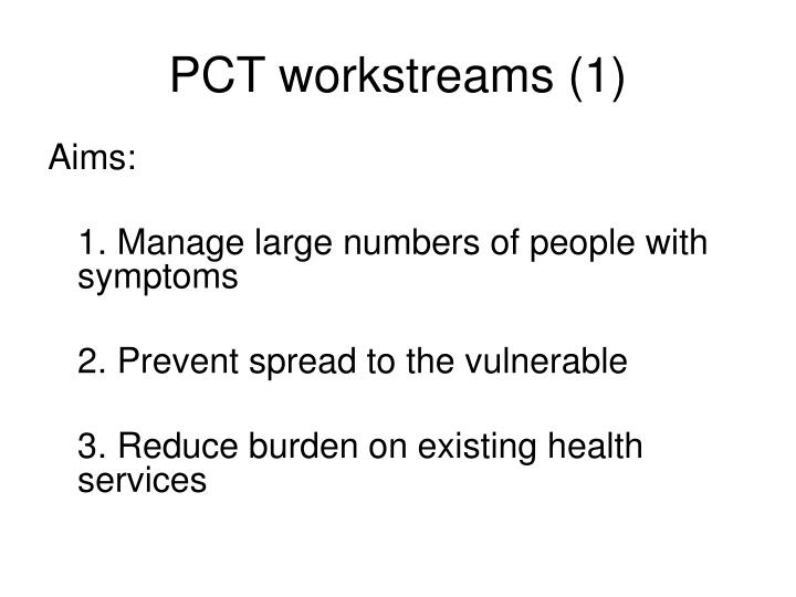 PCT workstreams (1)