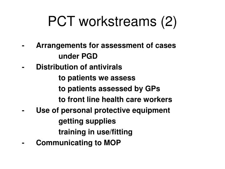 PCT workstreams (2)