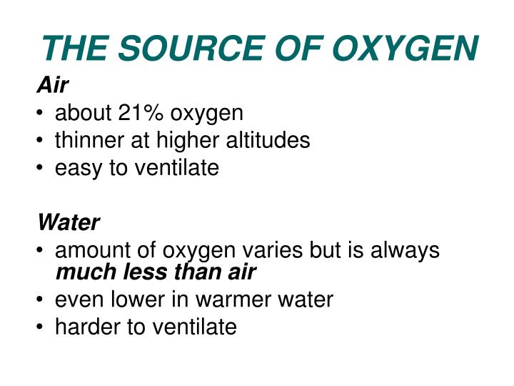 THE SOURCE OF OXYGEN