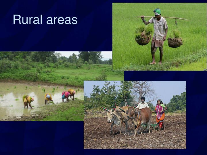 Rural areas