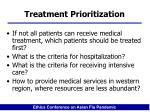 treatment prioritization