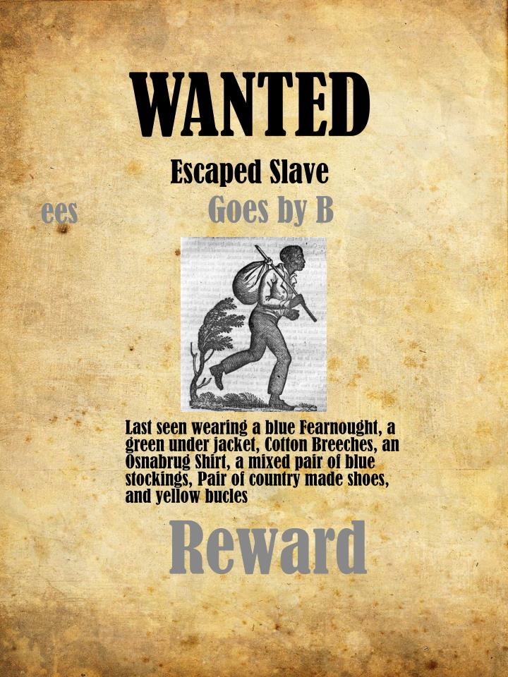 wanted escaped slave n.