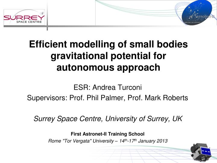 efficient modelling of small bodies gravitational potential for autonomous approach n.