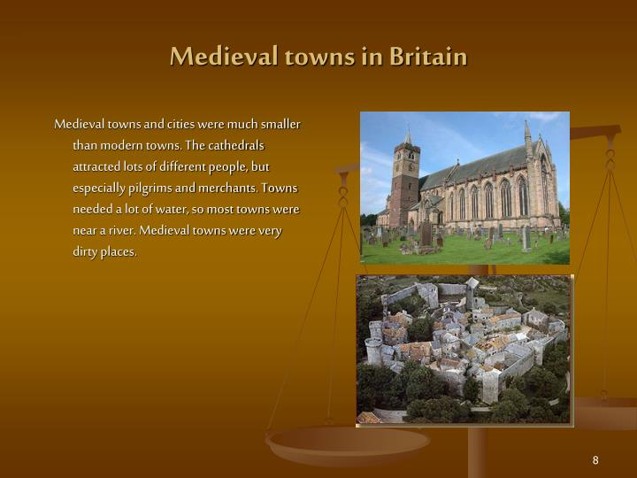 Medieval towns in Britain