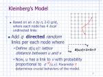 kleinberg s model2
