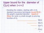 upper bound for the diameter of c r n when 1 r 22