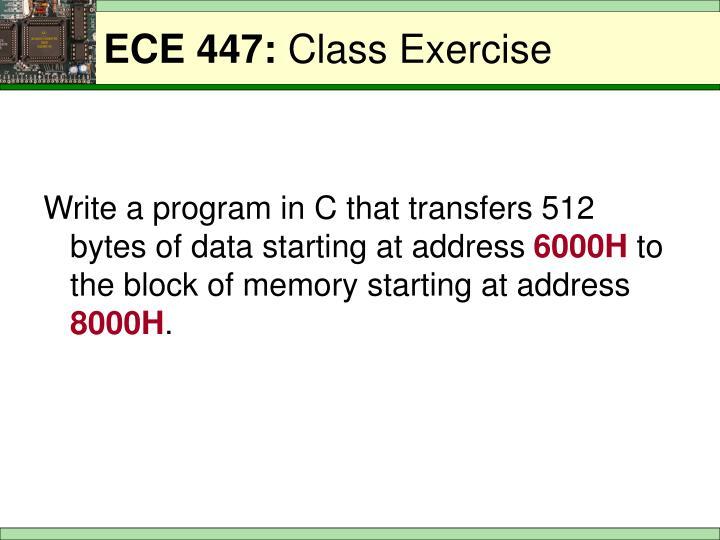Ece 447 class exercise