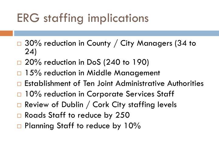 ERG staffing implications