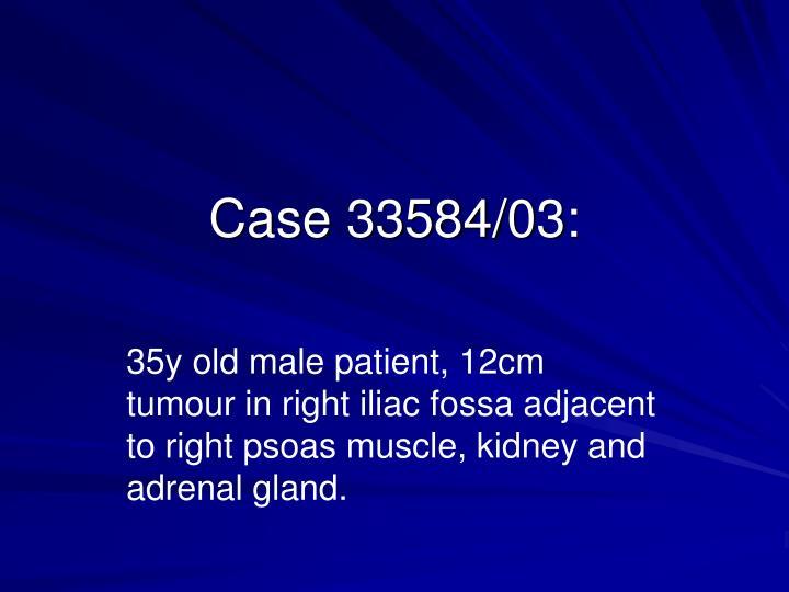 Case 33584/03: