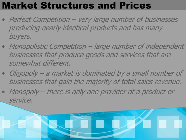 Market Structures and Prices
