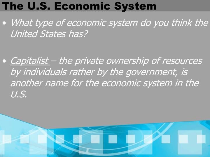 The U.S. Economic System