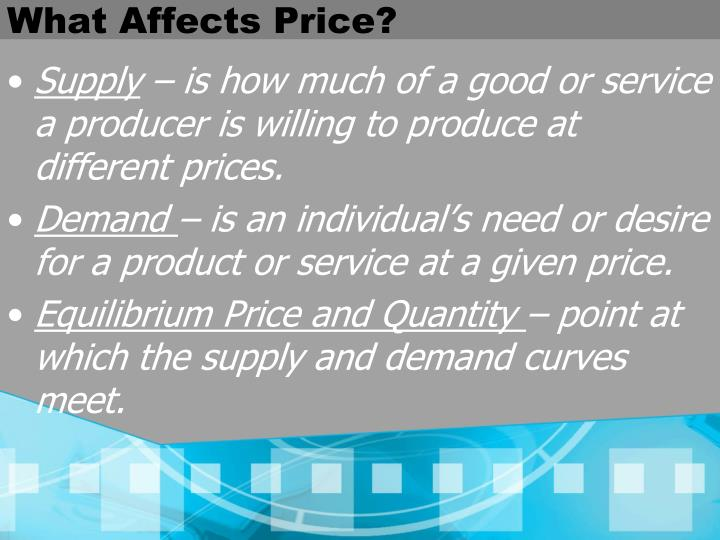 What Affects Price?