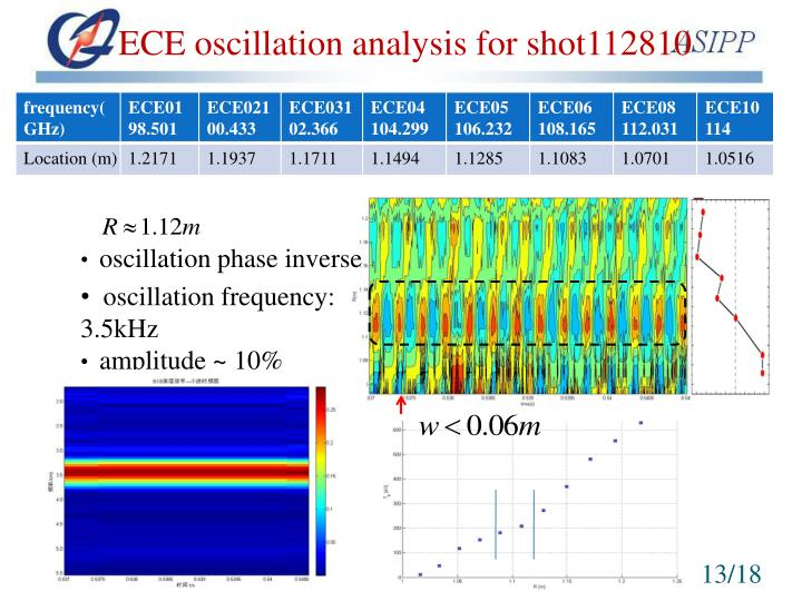ECE oscillation analysis for shot112810