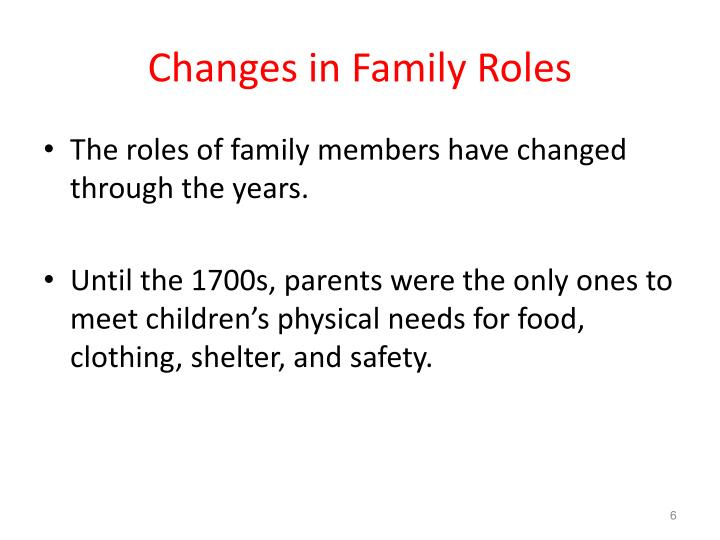 Changes in Family Roles
