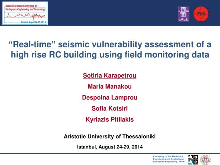 "assessment of seismic vulnerability 2 the committee published standard for seismic vulnerability assessment of existing reinforced concrete buildings"" (japan association for."