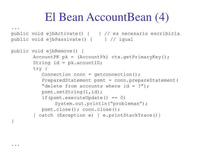 El Bean AccountBean (4)