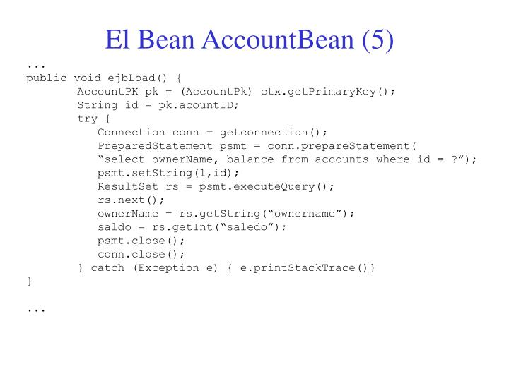 El Bean AccountBean (5)
