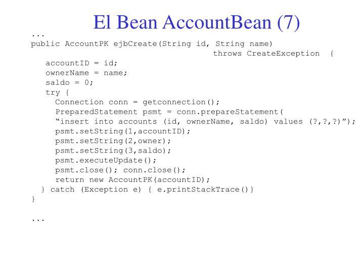 El Bean AccountBean (7)