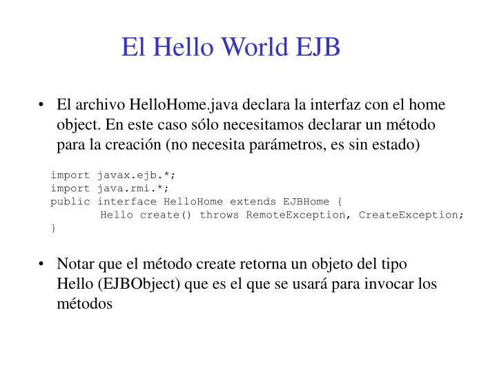 El Hello World EJB