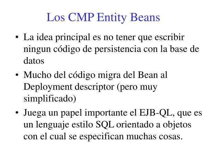 Los CMP Entity Beans
