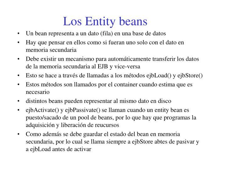 Los Entity beans