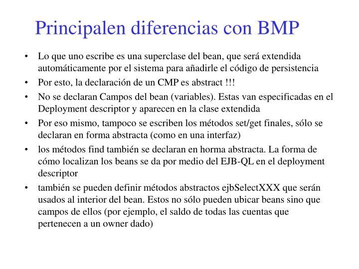 Principalen diferencias con BMP
