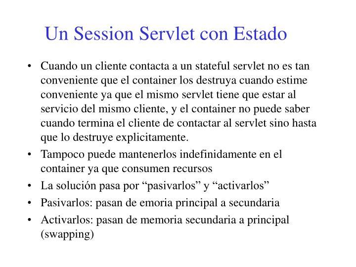 Un Session Servlet con Estado