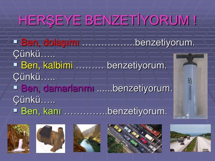 HERŞEYE BENZETİYORUM !