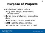 purpose of projects