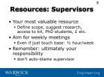 resources supervisors