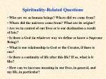 spirituality related questions