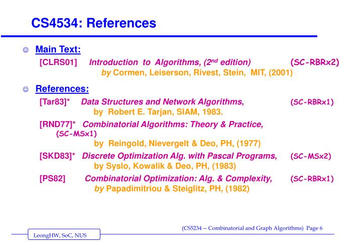 CS4534: References