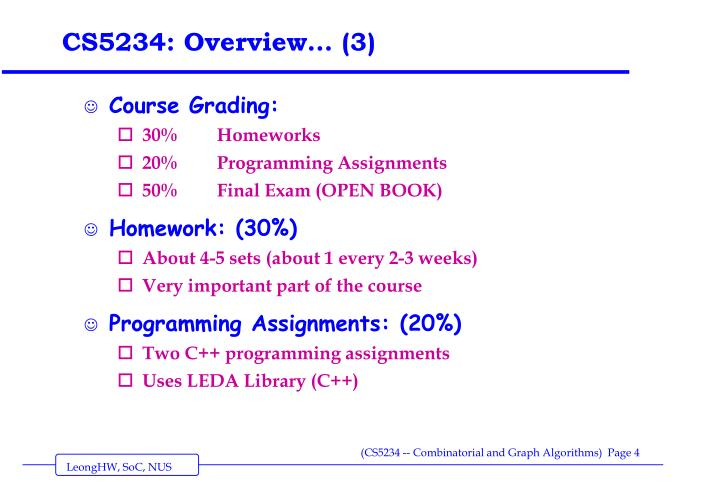 CS5234: Overview… (3)
