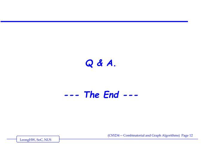 Q & A.