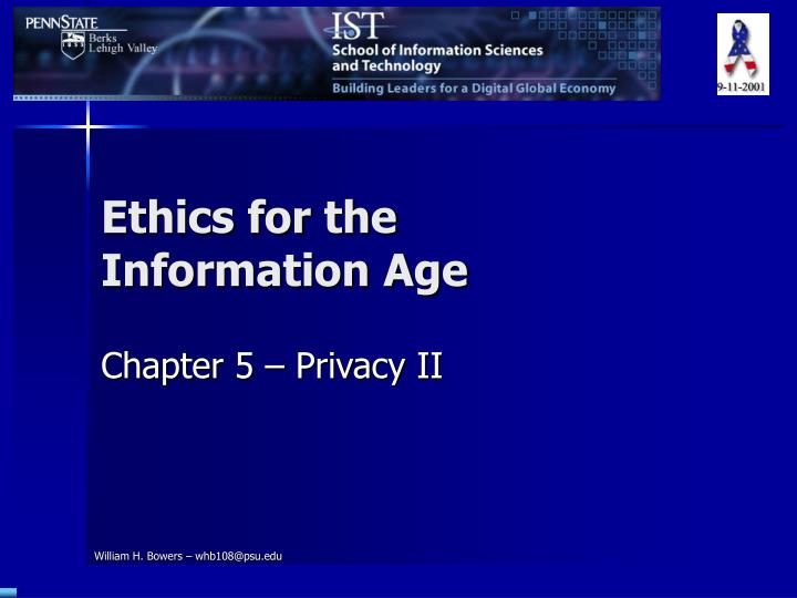 ethics for the information age n.