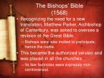 the bishops bible 1568
