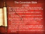 the coverdale bible 1535