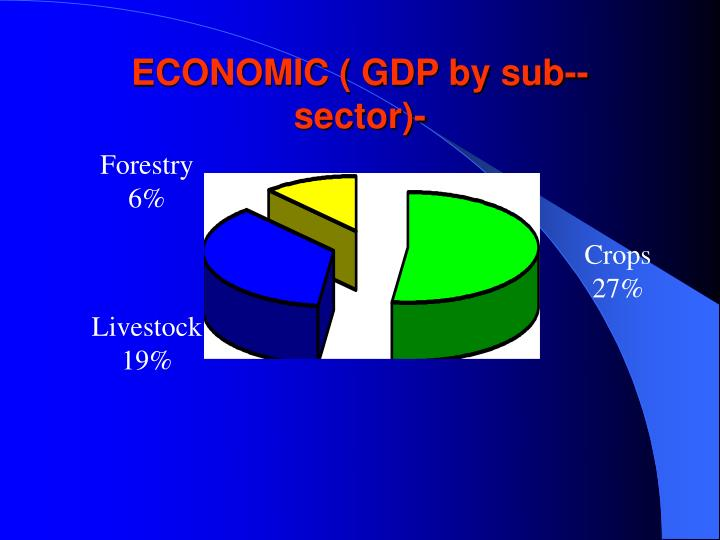 ECONOMIC ( GDP by sub-- sector)-