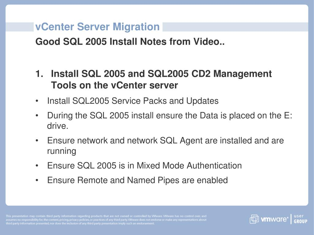 PPT - P2P Session vCenter Server Migration from 2 5 to 4 0