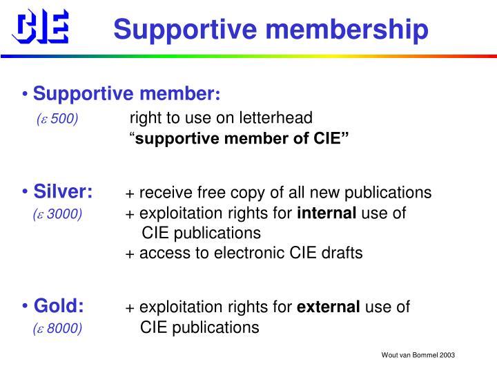 Supportive membership