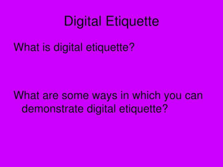 PPT Digital Citizenship PowerPoint Presentation ID 6093889