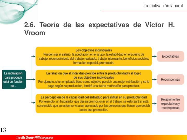 2.6. Teoría de las expectativas de Victor H. Vroom